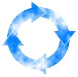 flèche cercle