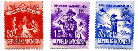Timbre Indonésie 1955